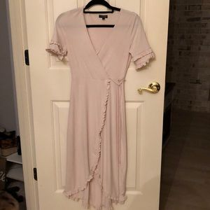 Top shop blush wrap dress. RUNS SMALL.